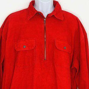 Vtg Marlboro Unlimited  Corduroy 1/4 Zip Pullover